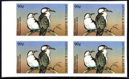ANTIGUA (1998) Pied Cormorant (Phalacrocorax Varius). Imperforate Block Of 4. Scott No 2207. - Antigua And Barbuda (1981-...)