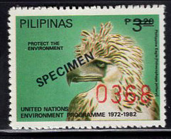 PHILIPPINES (1982) Philippine Eagle. Stamp Overprinted SPECIMEN With Control Numbers. Scott No 1591. - Philippines