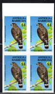 ANTIGUA (1994) Antigua Broad-wing Hawk (Buteo Platypterus Insulicola). Imperforate Block Of 4. Scott No 1851. - Antigua And Barbuda (1981-...)