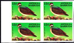 ANTIGUA (1994) Bridled Quail Dove (Geotrygon Mystacea). Imperforate Block Of 4. Scott No 1848. - Antigua And Barbuda (1981-...)