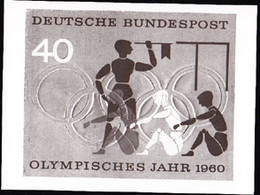 GERMANY (1960) Olympians Rowing. Photo Essay For Unaccepted Design For Rome Olympics. Scott No 816, Yvert No 208. - Variedades