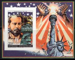 CENTRAL AFRICA (1986) Frederick Bartholdi. Imperforate S/S. Scott No 819. Statue Of Liberty Centennial. - República Centroafricana