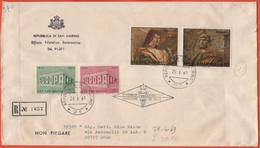 SAN MARINO - 1969 - Europa Cept + Dipinti Di Bramante - FDC - Ufficio Filatelico Governativo - RACCOMANDATA - FDC