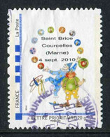 """TIMBRE PERSONNALISE De 2010 Oblitéré """"type MonTimbraMoi - LETTRE PRIORITAIRE 20 G - SAINT BRICE COURCELLES (MARNE)"""" - Personalized Stamps (MonTimbraMoi)"""