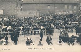 Littry (14 Calvados) Un Coin Du Marché Aux Bœufs De La Mine - Coll. Leboeuf - Altri Comuni