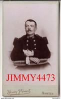 Portrait D'un Militaire à Identifier - CARTE CDV Tirage Aluminé 19ème - Taille 63 X 104 - Photo Henry Pérrot Nantes - Anciennes (Av. 1900)