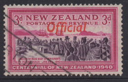 NEW ZEALAND 1940 CENTENNIAL OFFICIALS 3d PINK  'SETTLERS' STAMP VFU - Used Stamps
