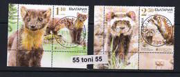 2021 Europe- Fauna Protected Animals 2v.+ Vignette- Used (O) Bulgaria /Bulgarie - 2020
