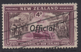 NEW ZEALAND 1940 CENTENNIAL OFFICIALS 4d PURPLE  'TRANSPORT' STAMP VFU - Used Stamps