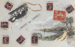 LANGAGE Des TIMBRES - Du Timbre - Pour Toujours - Mille Baisers - Espérez - Croyez En Moi - Avec Confiance - REX - Stamps (pictures)