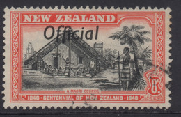 NEW ZEALAND 1940 CENTENNIAL OFFICIALS 8d RED  'COUNCIL' STAMP VFU - Used Stamps