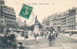 Paris 17 Place Clichy édit J. H. N° 211 Circulée 1912 - District 17