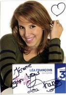 Autographe LEA FRANCOIS  Barbara Plus Belle La Vie France 3 - Serie Televisive