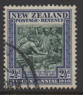 NEW ZEALAND 1940 CENTENNIAL  2.1/2d BLUE  'TREATY ' STAMP VFU - Used Stamps