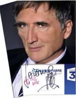 Autographe ALEXANDRE FABRE  Charles Bremont  Plus Belle La Vie France 3 RV - TV Series