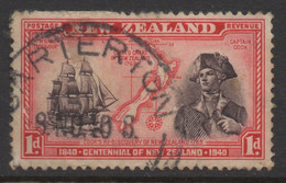 NEW ZEALAND 1940 CENTENNIAL 1d RED 'CAPT COOK' STAMP VFU - Used Stamps