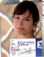 Autographe Cecilia Hornus Blanche    Plus Belle La Vie France 3 RV - TV Series