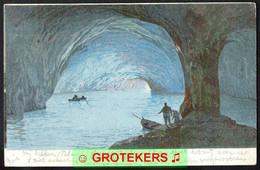 CAPRI La Grotta Azzura Sent 1906 To HORN Via ROERMOND (NL) Taxed Card - Andere Städte
