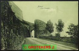NAMUR A La Citadelle Verzonden 1908? Van Namur Station Naar Paris (F) - Namur