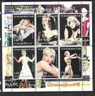 Turkmenistan 1997 Marilyn Monroe Miniature Sheet Of 6 MNH - Turkménistan