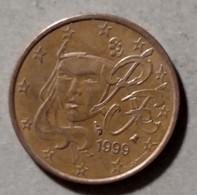 1999  -  FRANCIA  - MONETA IN EURO - DEL VALORE DI  5  CENTESIMI - CIRCOLATA - France