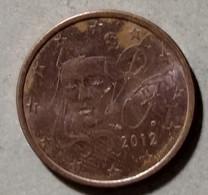 2012 -  FRANCIA  - MONETA IN EURO - DEL VALORE DI  5  CENTESIMI - CIRCOLATA - France