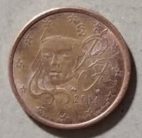 2014  -  FRANCIA  - MONETA IN EURO - DEL VALORE DI  5  CENTESIMI - CIRCOLATA - France