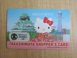 Takashimaya Shopper's Card, Hello Kitty At Osaka - Unclassified
