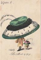"""UR 16- """" LE SOURIRE """" - LA MODE EN 1909 - CHAPEAUX -  ILLUSTRATEUR ROBERTY - Other Illustrators"""