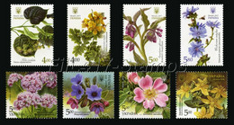 "2017-2018 Ukraine. ""Medicinal And Melliferous Plants"". Eight Stamps. - Ukraine"