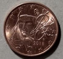 2018  -  FRANCIA  - MONETA IN EURO - DEL VALORE DI  5  CENTESIMI - CIRCOLATA - France