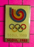 SP12 Pin's Pins / Beau Et Rare : Thème JEUX OLYMPIQUES / SEOUL 1988 ESCARGOT CARACOL - Giochi Olimpici