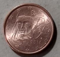 2016  -  FRANCIA  - MONETA IN EURO - DEL VALORE DI  5  CENTESIMI - CIRCOLATA - France