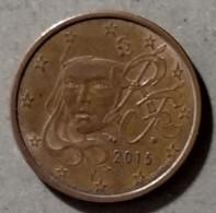 2015 -  FRANCIA  - MONETA IN EURO - DEL VALORE DI  5  CENTESIMI - CIRCOLATA - France
