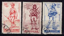 Indochine  - 1941 -  Défense De L' Empire -  N° 219 à 221- Oblit - Used - Usados