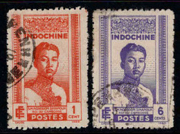 Indochine  - 1941 -  Roi Sihanouk -  N° 224/225- Oblit - Used - Usados