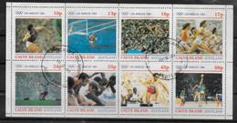 ECOSSE  CALVE  Feuillet N°   Oblitere Jo 1984 Poids Water Polo Course Haies Basket Marteau Saut En Hauteur - Baloncesto