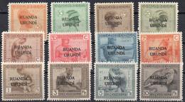 Ruanda- Urundi - N° 50/61 X (neufs Avec Charnières - Mint Hinged) - 1924 - Vloors - 1924-44: Ungebraucht