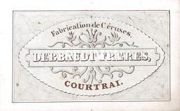 Porceleinkaart  Debbaudt Frères Fabrication De Céruses - Courtrai - Kortrijk -  9.5 X 6 Cm - Kortrijk