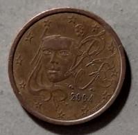 2004  -  FRANCIA  - MONETA IN EURO - DEL VALORE DI  5  CENTESIMI - CIRCOLATA - France