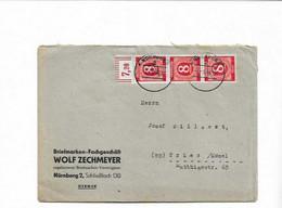 Brief Aus Nürnberg 1946 - American,British And Russian Zone