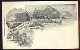 "NORVEGE - Carte ""Aus CATHOLICUM Ex NORVEGIA"" - St Olafs Trykkeri, Kristiana - Norway"