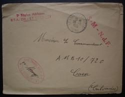 1955 Le Bourget Aéroport 2eme Région Aérienne , Base Transit Air S-M 6 N.D.F, Enveloppe Pour Caen - Cachets Militaires A Partir De 1900 (hors Guerres)