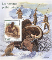 CHAD 2021 - Prehistoric Humans, Archery S/S. Official Issue [TCH210109b] - Tiro Con L'Arco