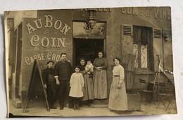 PARIS - Carte Photo - Restaurant AU BON COIN (MARQUET) - 61 Bd St-Jacques - (adresse Au Bas Du Verso De La CP) - Restaurants