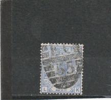 "GB 1881: 2 1/2 D QV Blue Pl. 22, Wmk. ""crown"" Used; S.G.-Sp. J 24 Pl. 22      O - Usati"