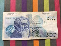 BELGIQUE Billet De 500 Frs Circulé - 5000 Francs
