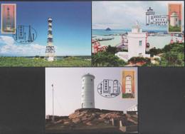 2020 Taiwan R.O.CHINA -Maximum Card.-Lighthouses Postage Stamps (5 Pcs.) - Cartoline Maximum