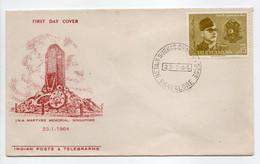 - FDC BANGALORE (Inde) 23.1.1964 - Bel Affranchissement Philatélique - - FDC