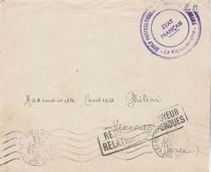 Cachet Etat Français Ecole Gendarmerie Romans  Lettre 30/9/1943 Retour Envoyeur Relations Suspendues Vescovato Corse - 2. Weltkrieg 1939-1945